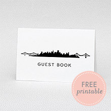 San Francisco Skyline Guestbook: DIY Wedding Sign