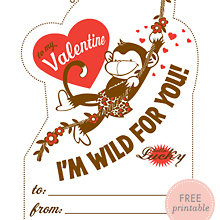 Jungle Love: Free Printable Valentine\'s Card