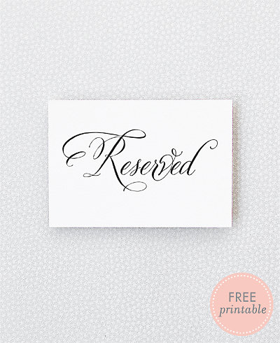 Calligraphy Reserved---DIY Wedding Sign