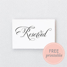 Calligraphy Reserved: DIY Wedding Sign