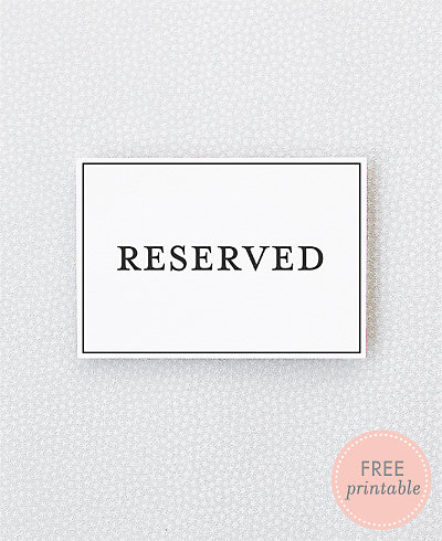 Classic Reserved---DIY Wedding Sign