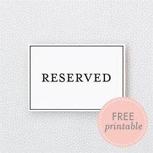 Classic Reserved: DIY Wedding Sign