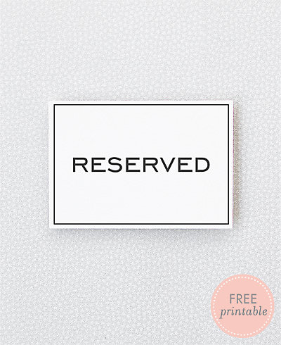 Modern Reserved---DIY Wedding Sign
