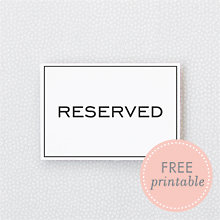 Modern Reserved: DIY Wedding Sign