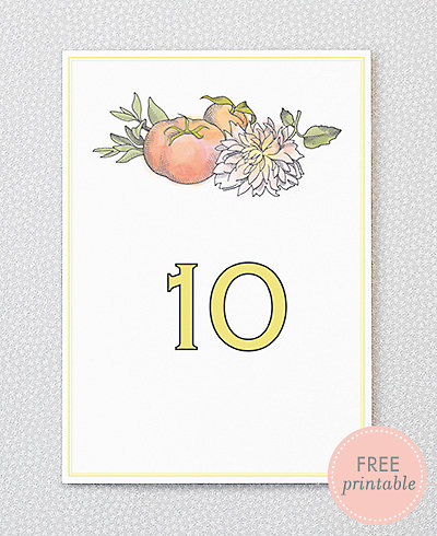 Heirloom Harvest---DIY Table Numbers
