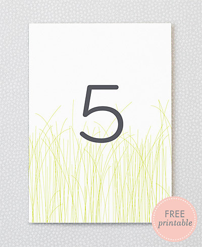 Meadow---DIY Table Numbers