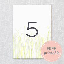 Meadow: DIY Table Numbers