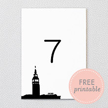 San Francisco Skyline: DIY Table Numbers