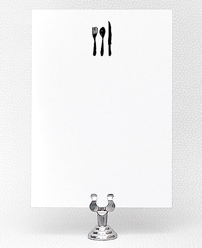 Fork, Knife and Spoon Printable Invitation