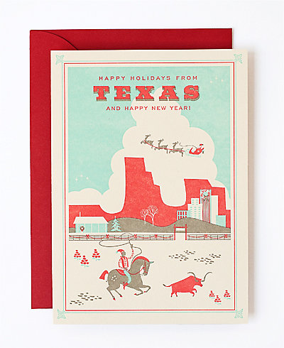 Happy Holidays from Texas - Set of 6