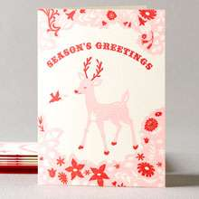Festive Deer & Bird - Set of 6: HL-375s