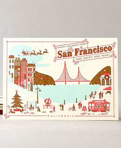Happy Holidays from San Francisco- Set of 6