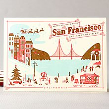 Happy Holidays from San Francisco Set of 6