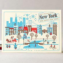 Happy Holidays from New York Set of 6