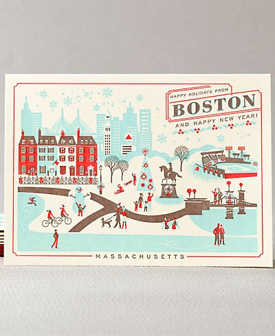 Happy Holidays from Boston Set of 6