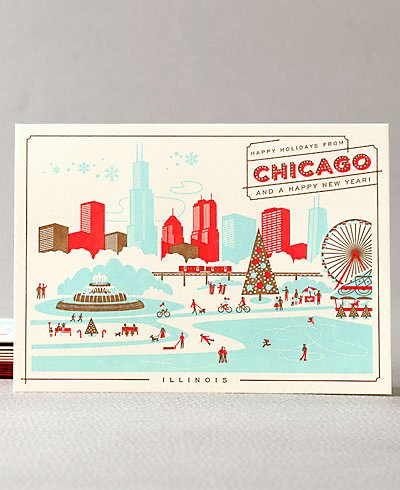 Happy Holidays from Chicago Set of 6