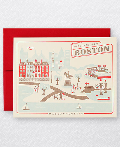 Greetings from Boston Set of 6
