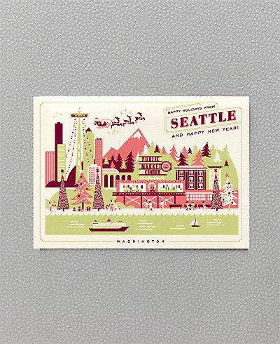 Happy Holidays from Seattle - Set of 6 HL-851s