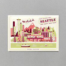 Happy Holidays from Seattle Set of 6 HL-851s