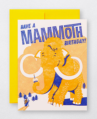 Mammoth Birthday