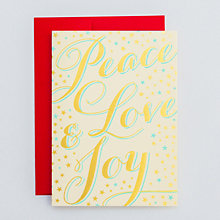 Peace, Love, Joy, Stars Set of 6: HL-943s
