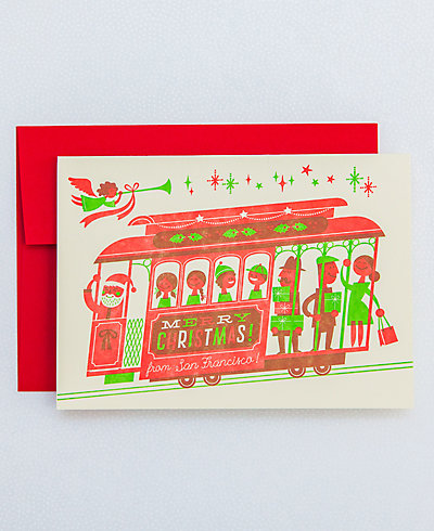 Cable Car Christmas - Set of 6
