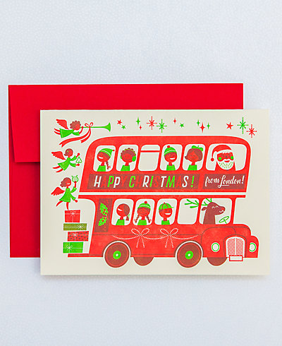 London Bus Christmas - Set of 6