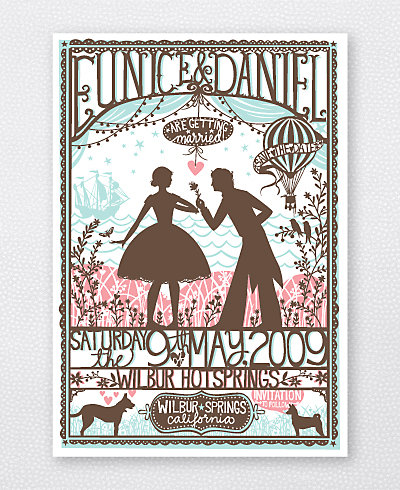 Custom Design Fee for Hot Air Balloon Save the Date/Invitation