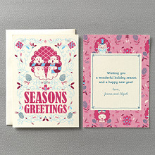 Beaver Fuchsia: Holiday Card