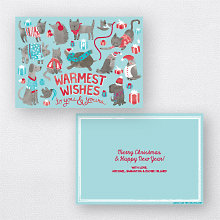 Animal Sweaters Blue: Christmas Card