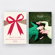 Big Bow: Holiday Photo Card