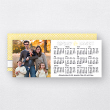 Bright New Year Calendar: Holiday Photo Card