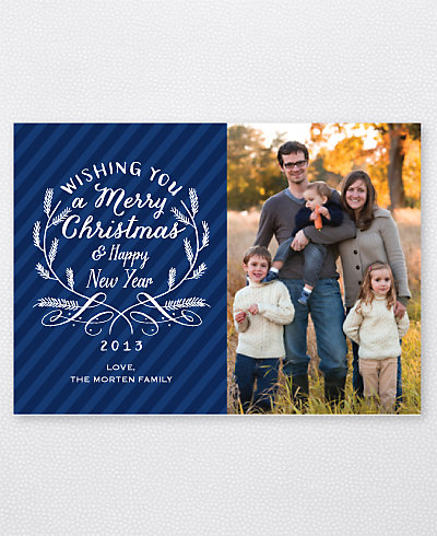 Calligraphy Badge Holiday Photo Card