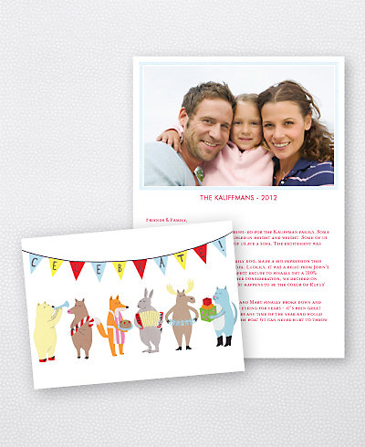 Celebration Folded Holiday Photo Card