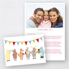 Celebration: Folded Holiday Photo Card