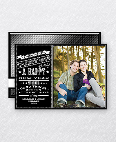 Chalkboard Holiday Photo Card