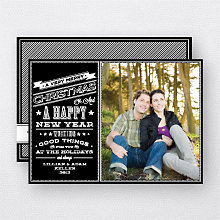 Chalkboard: Holiday Photo Card