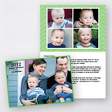 Chevron: Folded Holiday Photo Card