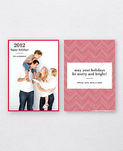 Chevron Holiday Photo Card
