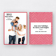 Chevron (Portrait): Holiday Photo Card