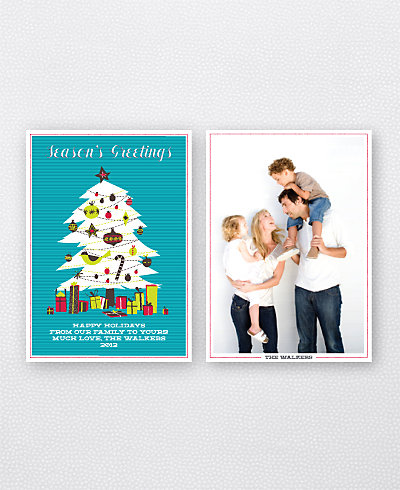 Christmas Tree Holiday Photo Card