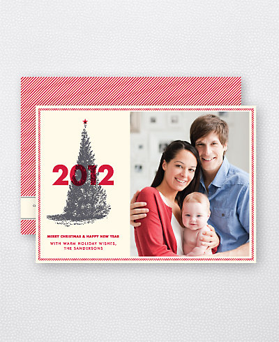 Classic Christmas Holiday Photo Card
