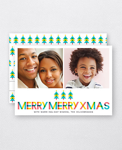 Color Block Holiday Photo Card