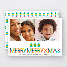 Color Block: Holiday Photo Card