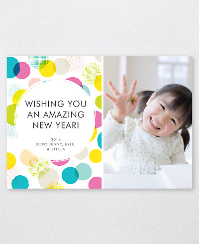 Confetti Holiday Photo Card
