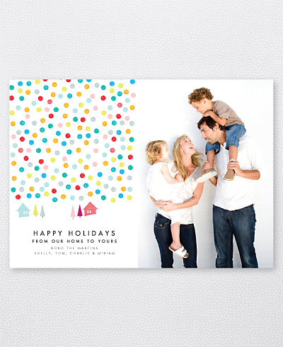 Confetti Snow Holiday Photo Card