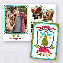 Crest: Folded Holiday Photo Card