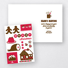 Delicious Christmas: Letterpress Holiday Card