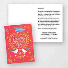 Doves Red: Folded Holiday Card