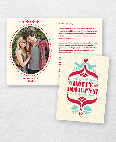Folk Tales Folded Holiday Photo Card